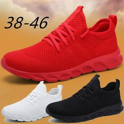 Mens Lightweight Tennis Shoes Casual Running Jogging Trainer Sneakers Breathable