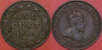 Fine 1908 Canada Large 1 Cent