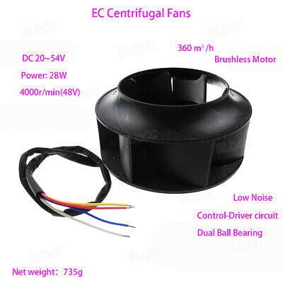 DC 48V Centrifugal Fan Outer Rotor Brushess Fan Air-conditioning Purifier Blower