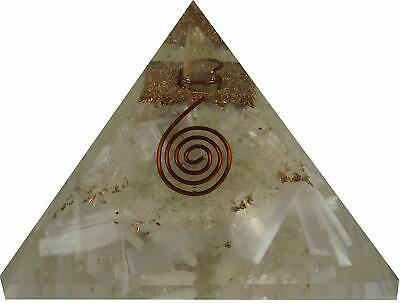 Orgonite Pyramid, orgone Pyramid with Crystal Slenite Stone Extra large (70-75MM