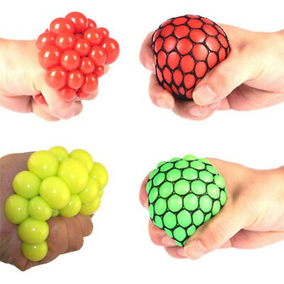 Squishy Mesh Ball Fidget Stress Toys Squishes Kids Fun Play Squeezy Gripper UK