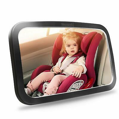 Shynerk Baby Car Mirror Safety Car Seat Mirror Rear Facing Infant Wide Crystal