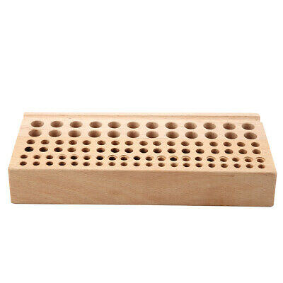 AU 98 Holes Leather DIY Craft Stamps Stand Holder Organizer Wood Tool Rack