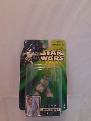 Star Wars Action Figure 2002 R3-T7 Astromech Droid - Sneak Preview POTJ AOTC