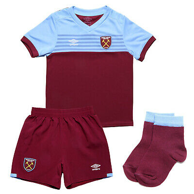 West Ham United Home Official Baby Mini Kit 2019/20