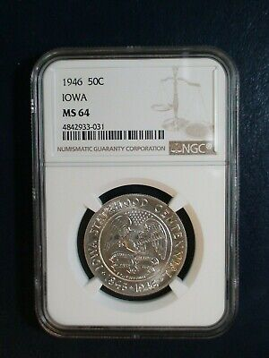 1946 IOWA Commemorative Half Dollar NGC MS64 50C SILVER Coin PRICED TO SELL NOW!