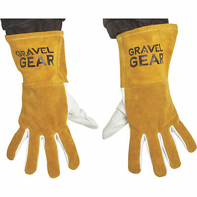 Gravel Gear TIG Welding Gloves Large, White and Gold