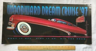 1997 Woodward Dream Cruise Laminated Poster Sign Hot Rod  Used