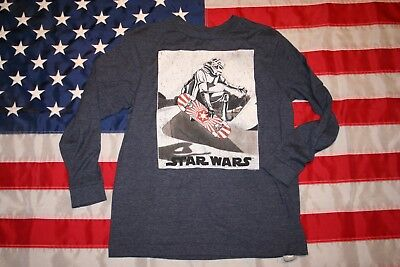 #6 Star Wars Collectibles Boys Storm Trooper Tee Shirt- Size Large: casual #5725