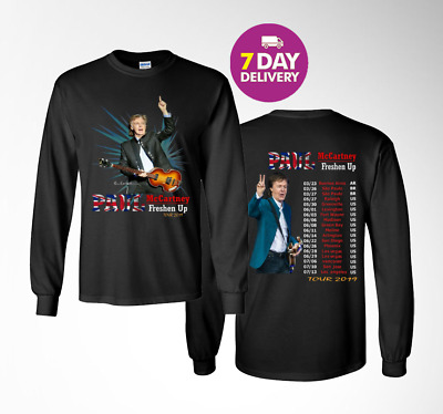 Paul McCartney 'Freshen Up' Tour 2019 Long sleeve t shirt  Gildan Size S-3XL