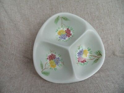 Vintage E Radford Hand Painted Sectioned Dish With Pretty Floral Design