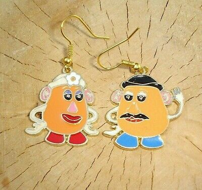 Toy Story Mr And Mrs Potato Head Dangle Charm Earrings In Gift Bag