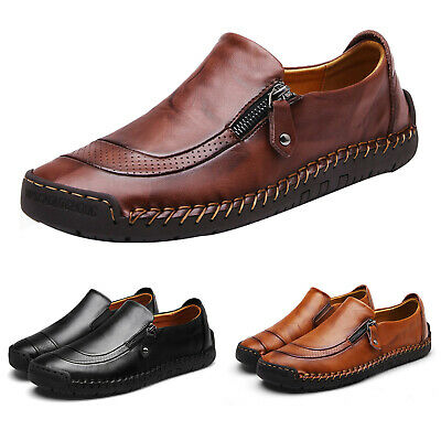 Mens Driving Shoes Loafers Leather Moccasins Office Work Oxfords Shoes Sizes 48