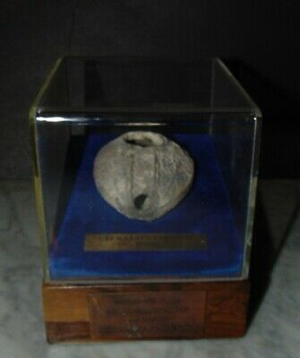 Artifact  Holy Land  Ancient OIL Lamp  290 - 640 AD  Professionally displayed