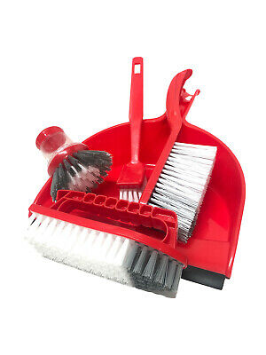 2x JCB Hard Wearing Tough Dustpan /& Brush Set with Rubber Lip