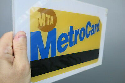 "Metrocard Gold plastic sign 8"" x 12"""