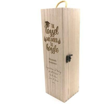 Personalised Wooden Wine/Champagne Box - Graduation Gift STO025-11