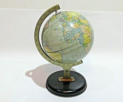 Vintage No. 10174 Chad Valley Atlas / Globe Tin Model , made in England