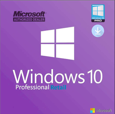 Windows 10 Professional Pro 32 & 64 bit Retail Licence From Authorized Seller
