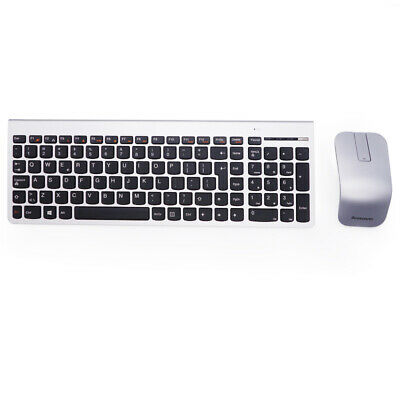 a5c3b6a31bb Lenovo/IBM SK-8861 UK Windows Linux PC Silver Wireless Slim Keyboard and  Mouse