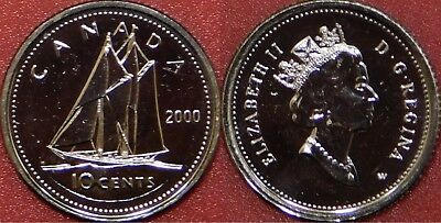 Proof Like 1998W /& 2000W /& 2003WP Canada 10 Cents From Mint/'s Sets