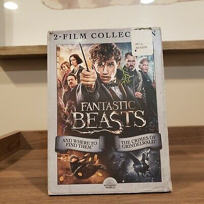 Fantastic Beasts Crimes of Grindelwald + And Where to Find Them 2 Movies DVD