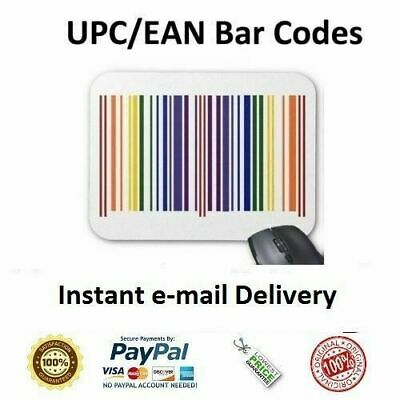 100000 UPC & EAN Numbers Barcodes Bar Code Gs1 EAN Amazon Lifetime Guarantee 2