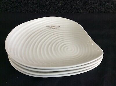 "Sophie Conran Portmeirion 4 X 8.5"" Shell Shaped Plates White New"