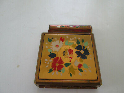 Vintage Yardley of London Enameled Powder & Rouge Compact with Lipstick 3919