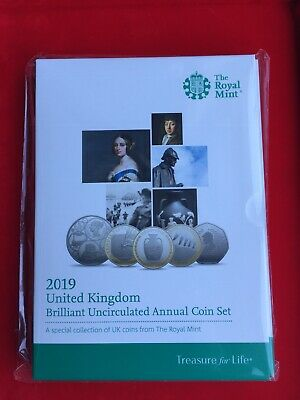 2019 UK Brilliant Uncirculated Annual 13  Coin Set.Royal Mint sealed pack