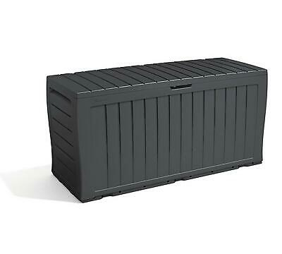 Keter Garden Storage Box 270L Grey Outdoor Patio Shed New Home Large Tool