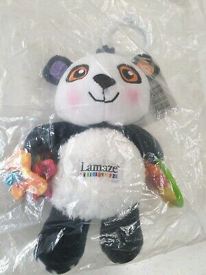 Lamaze Play and Grow Patty The Panda Clip on Pram and Pushchair Plush Toy Rare