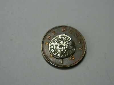 Un researched Medieval hammered silver Farthing coin Metal detecting detector