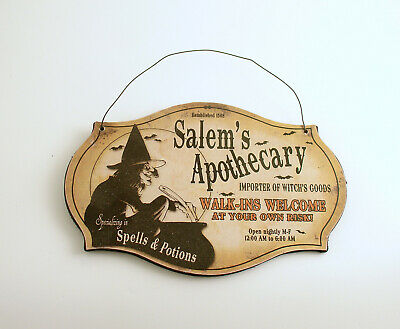 Halloween Decoration Halloween Sign Witch Potions Spells