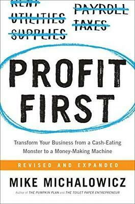 Profit First by Mike Michalowicz Hardback NEW Book