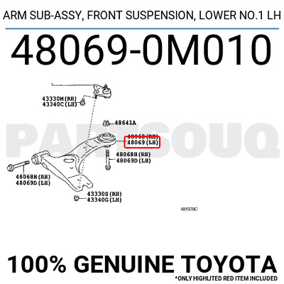 for Lower Control Arm 4867051010 Arm Bushing Febest For Toyota