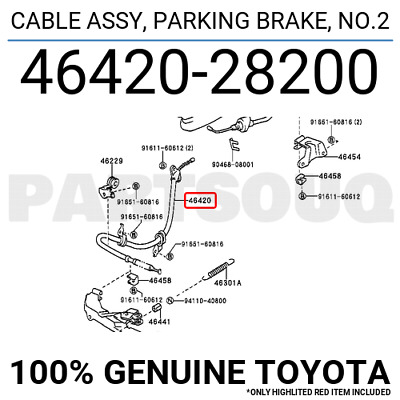 ACDelco 18P326 Professional Rear Parking Brake Cable Assembly