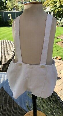 Vintage White Lined Romper Suit Age 9/12 Months