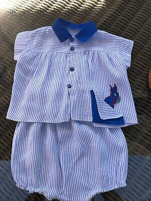 Lovely Vintage Baby Boys Short Suit Age 9-12 Months