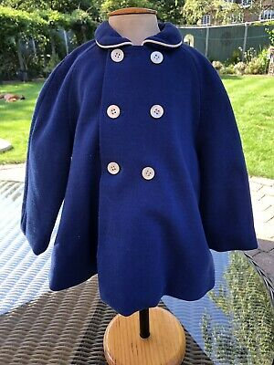 Vintage 1960's Boys Blue Coat Age 1 Year