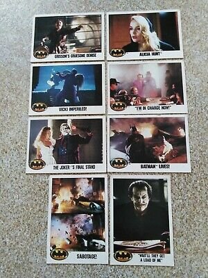 Batman Cards 1989 - Eight Cards - Great Condition