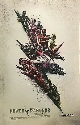 POWER RANGERS Movie Promo Poster 2017 Original Saban Art Print Cinemark Film NEW