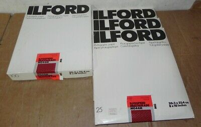 ILFORD MG44M 8 x 10 Inches 175 Sheets New Medium Pearl  MG Photographic Paper