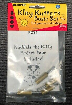 Kemper Klay Kutters Basic Set 5/16 Inch New in Package PCS4 Clay Crafting Tools