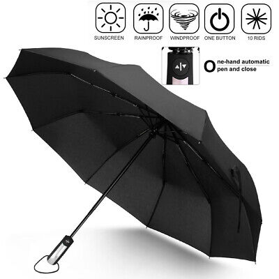 Compact-Windproof-Rain-Umbrella-Wind-Vented-Canopy-10-Ribs-Automatic-Open-Close