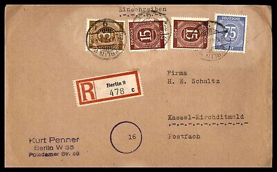 Germany Berlin  October 18 1947 Registered  To Kassel Kirchditmold Arrival