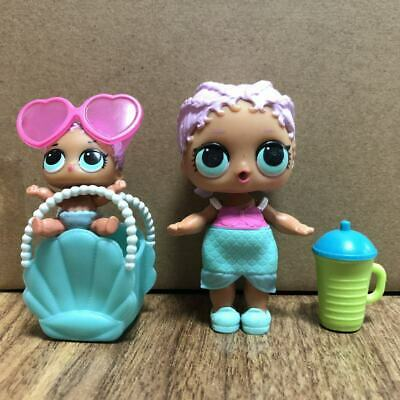 Lot 2 Original LOL Surprise Doll MERBABY Family lil sister THEATER Toys Gifts