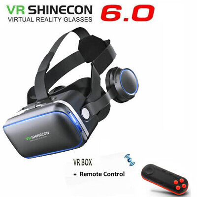 VR Virtual Reality Headset 3D Glasses + Remote Control For Samsung Note iPhone 8