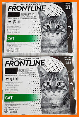 Frontline Plus For Cats 6 Months (6 Does) Free Shipping