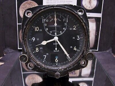 Vintage Jaeger Lecoultre V308 Aircraft Chrono Clock Smiths Military For Repair